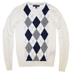 TOMMY HILFIGER Mens Argyle V-Neck Plaid Knit Sweater $34.99 - $39.99