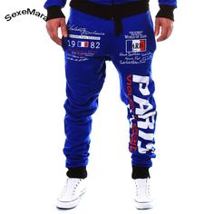 0fdd36b8cbd59 2017 Hot Sale Mens Pants New Brand Autumn Sporting Sweatpants Casual Letter  Print Fitness Gyms Leisure Trousers Workout-in Sweatpants from Men's  Clothing ...