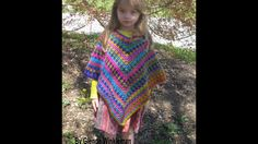 Quick & Easy V-Stitch Poncho (Free Pattern at end of video) - YouTube