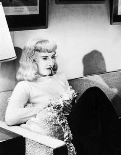 """Barbara Stanwyck - I always wondered if this was the same wig Norma Shearer wore in """"Idiots Delight""""...."""
