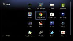 Google TV interface (© Sony)