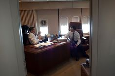 President Obama aboard Air Force One