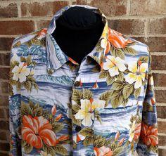 f1c98000 Details about Hawaiian Shirt Mens Hibiscus Floral Print Aloha Party Beach  Camp Holiday. Mens XlHibiscusHawaiianButton Down Shirt