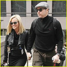 Midnight smooch: Last year Jenny - seen November 13 in NYC - kissed her now-husband Donnie Wahlberg, brother to actor Mark Wahlberg, on camera Jenny Mccarthy Hair, Actor Mark Wahlberg, Donnie Wahlberg, Donnie And Jenny, Couple Presents, Tom Selleck, Famous Couples, Reality Tv Shows, Hair