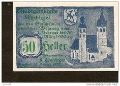 Austria, Gutschein - Stadtgemeinde Kitzbühel KITZBUHEL - 50 heller 1920 with stamp Stempel