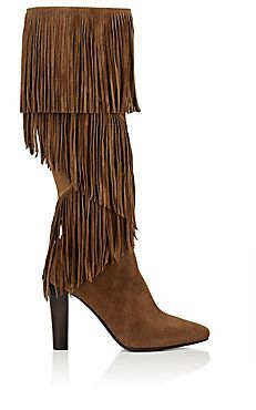 Lily Fringed Suede Knee Boots