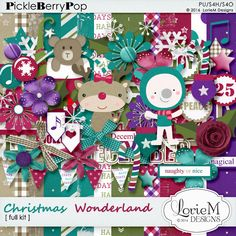 Christmas Wonderland Kit By Lorie M Designs Christmas Wonderland, Scrapbook Kit, Digital Scrapbooking, Collections, Christmas Ornaments, Holiday Decor, Design, Products, Christmas Jewelry