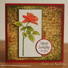 Corine's Gallery: Single Bloom Rose Stem IO stamps