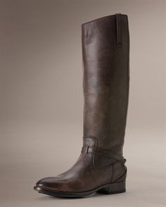 Frye Lindsay Plate Boot in Dark Brown