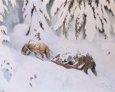 Juletroll 1907 (christmas Troll) Artwork By Theodor Kittelsen Oil Painting & Art Prints On Canvas For Sale Most Popular Artists, Great Artists, Yule, Troll, Illustrations, Illustration Art, Tile Murals, Fairytale Art, Christmas Scenes