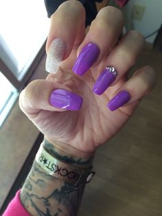 My Purple coffin nails