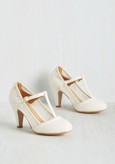 Romance on Air Heel in Ivory, @ModCloth