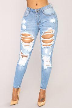 7f00158365e4 Give Good Love Skinny Jeans - Light Blue Wash Light Denim Jeans