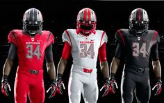 Rutgers coach may be in the NFL now (Greg Schiano) but they will bring it with this new look!