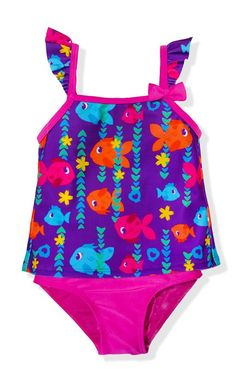 31a09055b8 This tankini top has an extra special twist: its got a tulip back, just