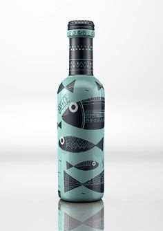 Taste of Greece is Ouzo, a traditional Greek alcoholic beverage. The concept from Dolphins // Communication Design was to embody Greece and all its traditions.