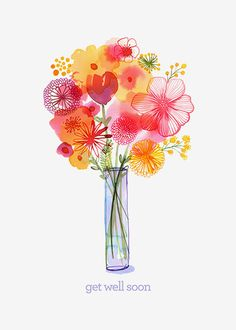 Margaret Berg Art: Handpicked+Get+Well+Bouquet