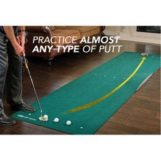Sklz Vari-Break 12'x3' #Golf Putting #Mat with Putt Pocket is the first putting mat that acts like an actual putting green. With the Vari-Break you can practice reading and making putts with variation. The 33-square foot oversized true-roll putting surface can be manipulated with versatile, moveable foam wedges for all kinds of practice—not every putt in your round is perfect, flat and straight, so your practice should not be either.