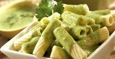 Pasta en salsa de cilantro