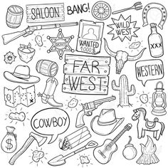 Purchase Throw Blanket Flannel Hat Western Cowboy Doodle Sketch Hand Made Line Texas Inch from Ann Pekin Pekin on OpenSky. Cowboy Theme, Western Theme, Western Cowboy, Western Clip Art, Western Signs, Doodle Icon, Doodle Sketch, Doodle Art, Doodle Ideas