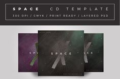 Space Cd Cover Template by quArexDesign on @creativemarket