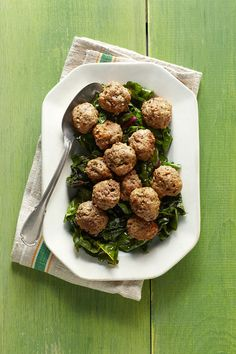 """When did rolling meatballs become a rule? It's a complete waste of time,"" Mark Bittman says. ""Shaping them is for show, not quality or flavor."" Instead, he uses two spoons to roughly form the meat into rounds and cooks them as he goes."