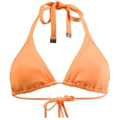 Seafolly Orange Triangl Top Swimsuit ($45) ❤ liked on Polyvore featuring swimwear, orange, triangle swimwear, swimming costume, seafolly swimsuits, summer swim suits and summer bathing suits