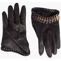 DSQUARED2 Samurai Gloves (€735) ❤ liked on Polyvore featuring accessories, gloves, black and dsquared2