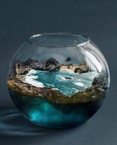 Epoxy Resin Art, Diy Resin Art, Diy Resin Crafts, Terrarium Scene, Terrarium Plants, Glass Jars, Wine Glass, Miniature Crafts, Photo Manipulation