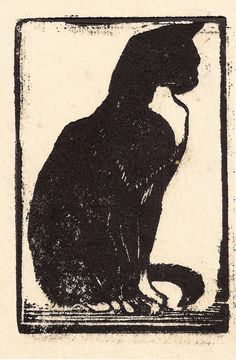 Cats in Art and Illustration: Mabel Royds Cat century Art And Illustration, Illustrations, Cat Drawing, Painting & Drawing, Image Chat, Linoprint, Linocut Prints, Japanese Art, Cat Art