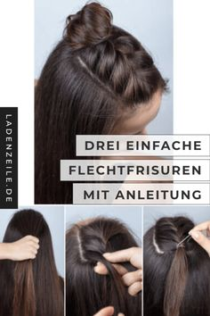 Simple braided hairstyles In the fashion world we show you three beautiful . Simple braided hairstyles In the fashion world, we show you three quick and easy braids for everyday we. Medium Hair Braids, Medium Hair Styles, Curly Hair Styles, Simple Hairstyles For Medium Hair, Easy Everyday Hairstyles, Box Braids, Open Hairstyles, Braided Hairstyles, Fashion Hairstyles
