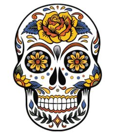 Large Sugar Skull cross stitch pattern by QuirkyStitcher on Etsy