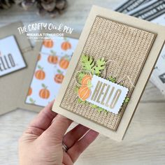 Fall Cards, Cards For Friends, Inspire Others, Free Gifts, Stampin Up, Banner, Greeting Cards, Paper Crafts, Seasons