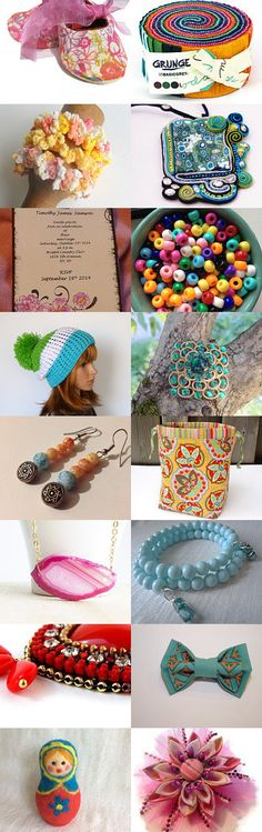 Bright and Colorful Finds! by Jaime K on Etsy--Pinned with TreasuryPin.com