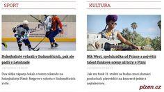Sport http://plzen.cz/category/zpravodajstvi/sport-zpravy/ Sportovní zprávy z Plzně i regionu Plzeň. Fotbal, hokej, házená, tenis, golf, vodní sporty, lyžařské sporty, atletika, sálové sporty, .... Vše ze sportu.