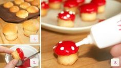 Rezept für Kinder Muffins Pilzform - Schritt 1-3