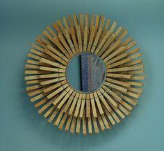 Espelho criativo feito com prendedores de roupa   Revista Artesanato
