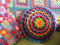 Here is my tutorial showing how to construct this wonderful layered flower and then make it into a Blooming Flower cushion/pillow. First of all I would like to say that this pattern is not my own. I found it via...
