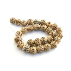 Bead Round Betelnut Seed 10 mm by CinLynnBeads on Etsy, $1.50
