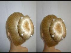 Blitzschnelle Frisur mit Duttkissen/Dutt.Schulfrisur.Alltagsfrisur.Donut Hair Bun Updo.Peinados - YouTube