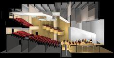 Teatro do SESC Pinheiros (São Paulo/SP) Theater Plan, Theatre Design, Opera House, Architecture Design, Studio, Building, Salons, Sound Proofing, Arquitetura