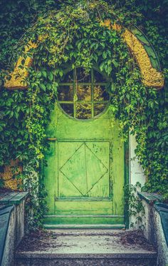Green Door Of Fairytale Cottage With Round Window. Free art print of Fairytale Cottage Door. Fachada Colonial, Door Picture, Fairytale Cottage, Cottage Door, Free Art Prints, Window Art, Home Decor Wall Art, House Painting, Fairy Tales