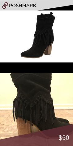 cb1f472eb0a716 Aldo Suede Fringe Booties. These are in great condition and so cute! Only  worn