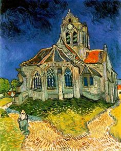 VINCENT VAN GOGH. Church at Auvers, 1890, oil on canvas.