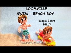 Rainbow Loom Band BEACH/SWIMMING BOY Advanced Figure Tutorials/How to Make by Crafty Ladybug - YouTube