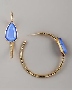 JACKIE BLUE NEIMAN AND MARCUS DESIGNER JEWELRY | stephen dweck blue agate cathedral hoop earrings available in blue $ ...