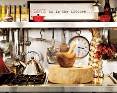 LOVE is in the kitchen....
