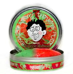 At Green Rainbow Revolution: Crazy Aaron's Thinking Putty // Limited Edition Holiday Colors // Christmas // Mistletoe Madness