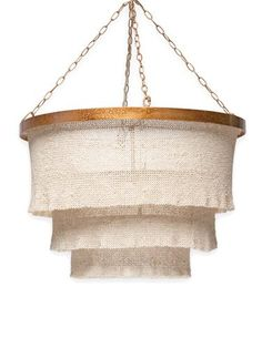 #HPmkt preview: @MadeGoods' Patricia fixture gets its rustic yet glamorous look from overlapping panels made from woven coco beads. Intentionally ruffled edges add the finishing touch. IHFC IH108. www.madegoods.com