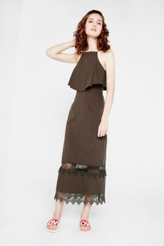 98aeb69197b N12H Column Maxi Dress With Cut Out Detailing. One ShoulderCold ...